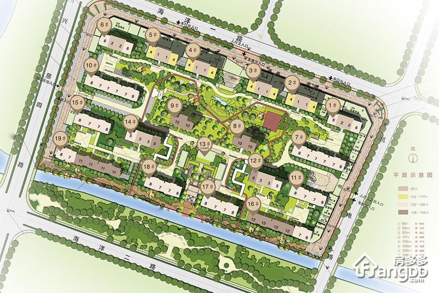 绿地·铭庐公馆沙盘图